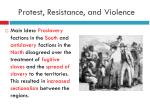 protest resistance and violence