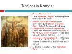 tensions in kansas