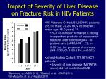 impact of severity of liver disease on fracture risk in hiv patients