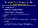 increased bone turnover in hiv potential mechanisms