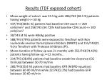 results tdf exposed cohort