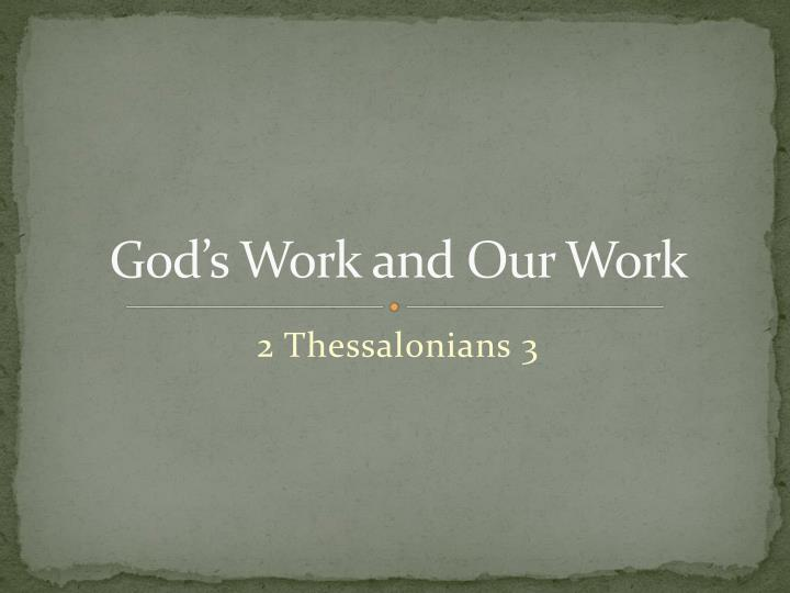 god s work and our work n.