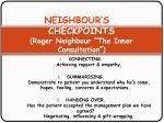 neighbour s 5 checkpoints roger neighbour the inner consultation1