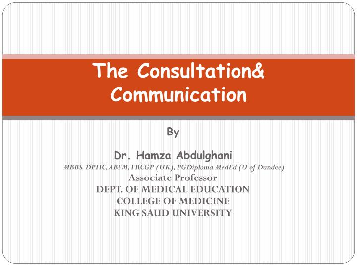 the consultation communication n.