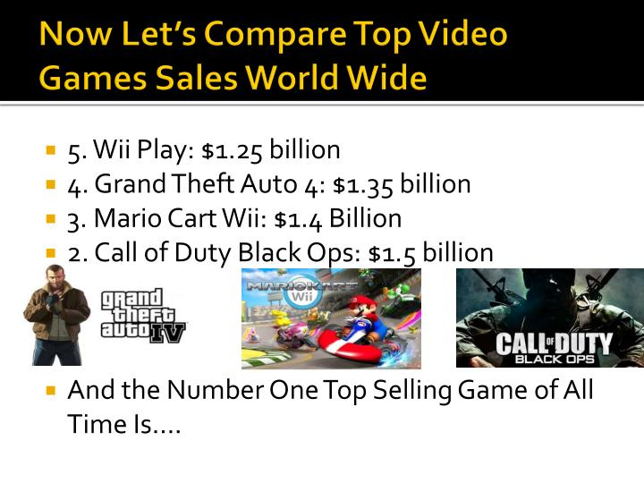 Now Let's Compare Top Video Games Sales World Wide