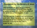 preparation for the ministry of jesus107