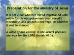 preparation for the ministry of jesus113