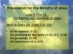 preparation for the ministry of jesus115