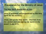 preparation for the ministry of jesus129