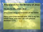 preparation for the ministry of jesus134