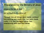 preparation for the ministry of jesus135