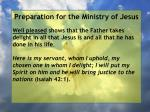 preparation for the ministry of jesus141