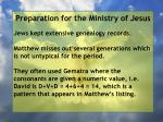 preparation for the ministry of jesus144