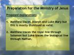 preparation for the ministry of jesus149