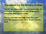 preparation for the ministry of jesus153