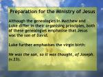 preparation for the ministry of jesus158