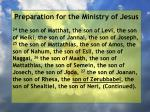 preparation for the ministry of jesus162