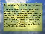 preparation for the ministry of jesus164