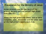 preparation for the ministry of jesus21