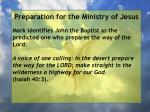 preparation for the ministry of jesus25