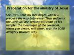 preparation for the ministry of jesus26
