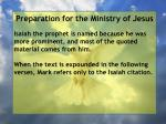 preparation for the ministry of jesus27