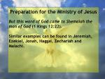 preparation for the ministry of jesus39