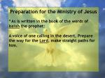 preparation for the ministry of jesus51