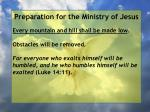 preparation for the ministry of jesus55