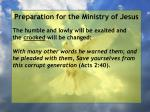 preparation for the ministry of jesus57