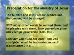 preparation for the ministry of jesus58