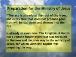 preparation for the ministry of jesus69
