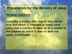preparation for the ministry of jesus73