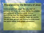 preparation for the ministry of jesus74