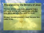 preparation for the ministry of jesus90