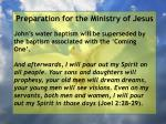 preparation for the ministry of jesus95