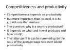 competitiveness and productivity