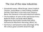 the rise of the new industries