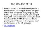 the wonders of tei
