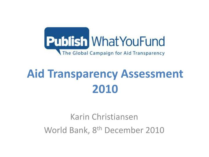 aid transparency assessment 2010 n.