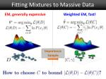 fitting mixtures to massive data