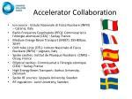 accelerator collaboration