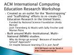 acm international computing education research workshop