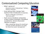 contextualized computing education