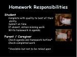 homework responsibilities