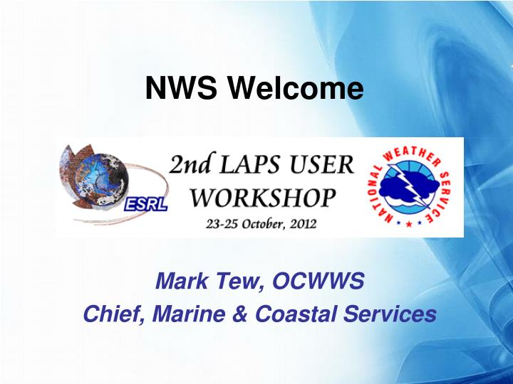nws welcome