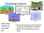 classifying its genre