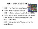 what are casual games