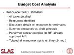 budget cost analysis