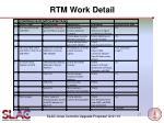 rtm work detail